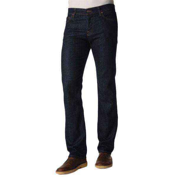 Men's Pants - Standard Classic Straight Leg Jeans In Dark And Clean By 7 For All Mankind - FINAL SALE