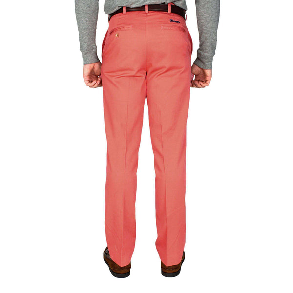 Tailored Fit Chino Pant in Washed Red by Country Club Prep - FINAL SALE