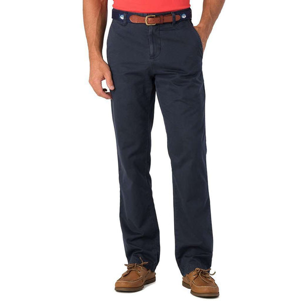 Men's Pants - The Skipjack Classic Fit Pant In True Navy By Southern Tide