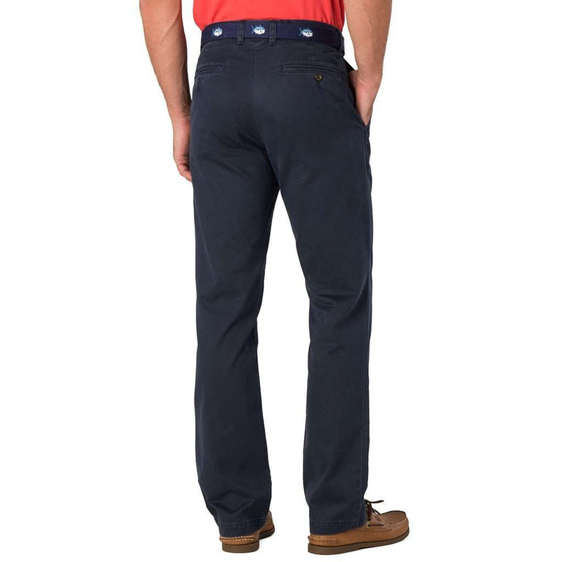 The Skipjack Classic Fit Pant in True Navy by Southern Tide