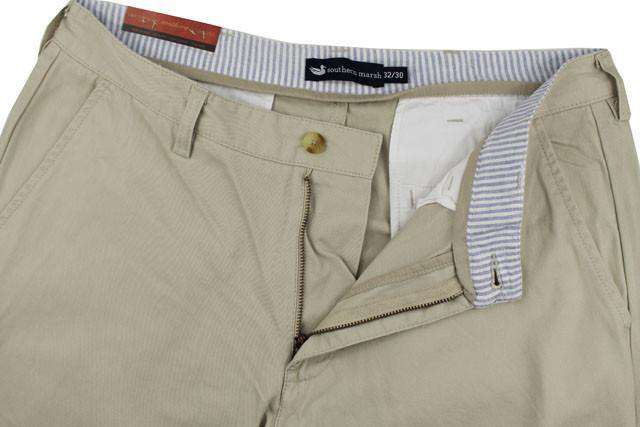 The Wharf Pant in Audubon Tan by Southern Marsh