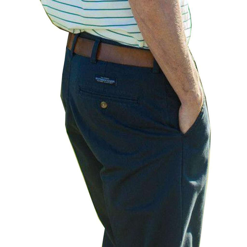 Men's Pants - The Wharf Pant In Colonial Navy By Southern Marsh - FINAL SALE