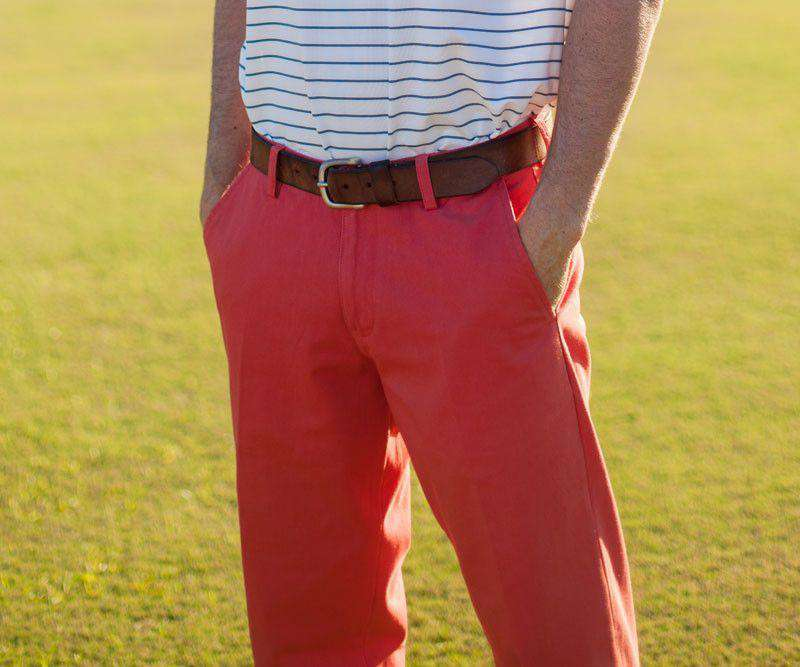 The Wharf Pant in Vintage Red by Southern Marsh