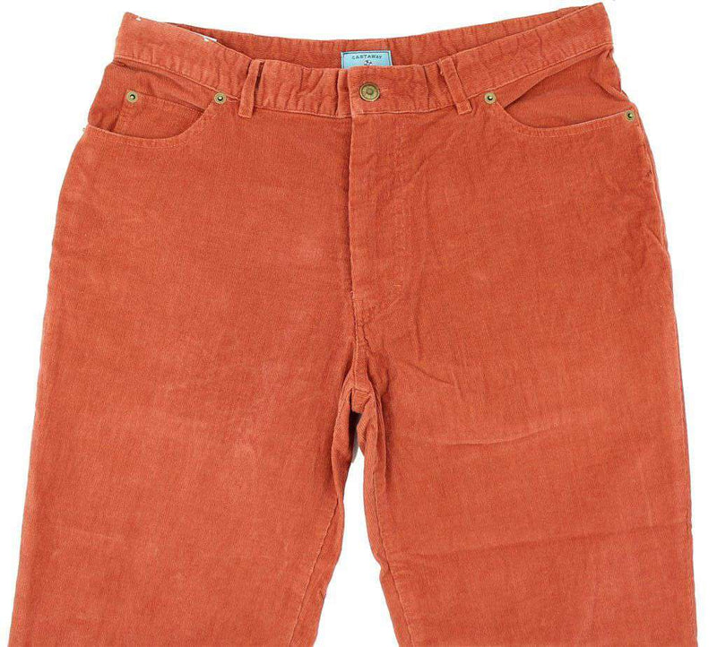 Union Jean Dionis Corduroy Pants in Nantucket Red by Castaway Clothing - FINAL SALE