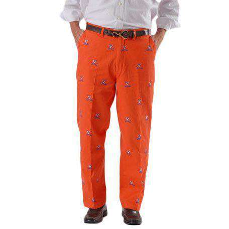 Men's Pants - Virginia Stadium Pant In Orange By Pennington & Bailes