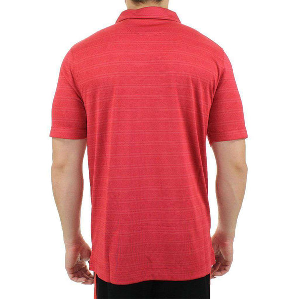 Alabama Interbay Melange Stripe Polo in Crimson by Cutter & Buck