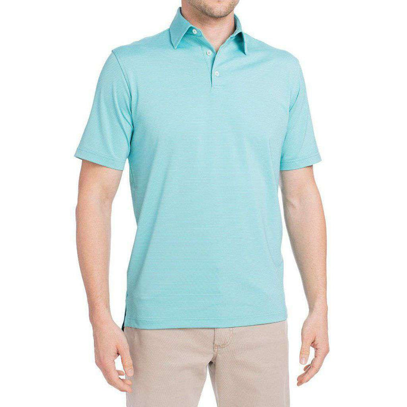 Albatross Prep-Formance Striped Polo in Zanzibar by Johnnie-O - FINAL SALE