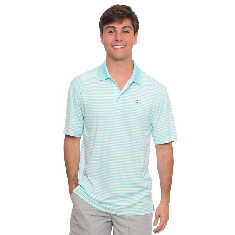 Men's Polo Shirts - Augusta Performance Polo In Aruba Blue By The Southern Shirt Co.