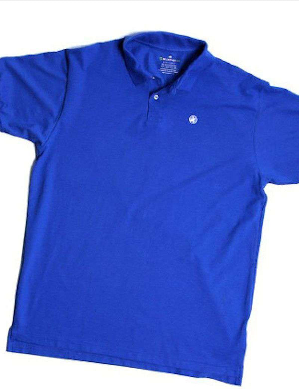 Men's Polo Shirts - Bellwether360 Polo In Fort Moultrie Blue By Loggerhead Apparel - FINAL SALE
