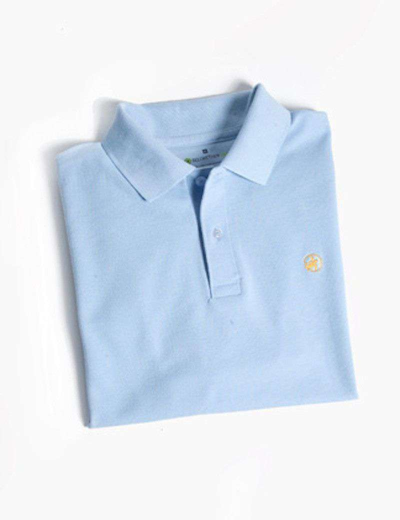 Men's Polo Shirts - Bellwether360 Polo In Haint Blue By Loggerhead Apparel - FINAL SALE