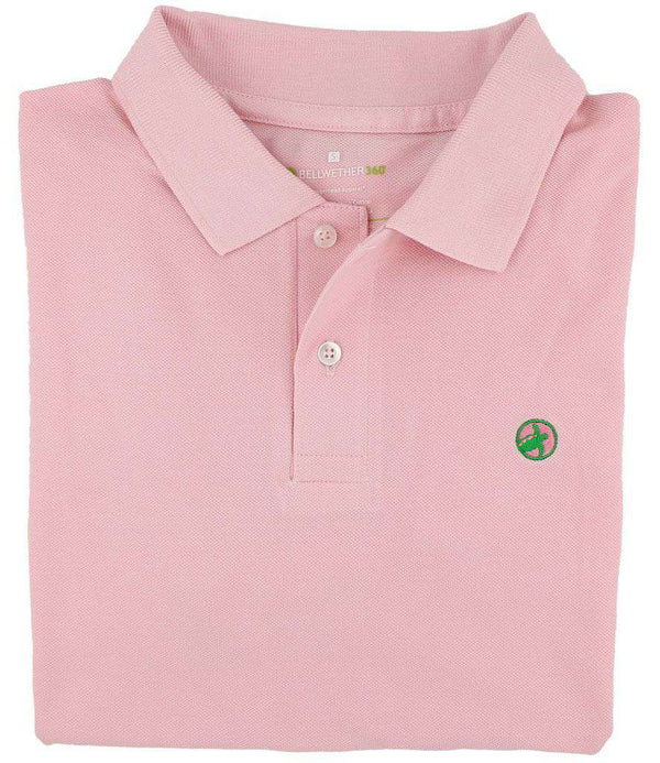 Men's Polo Shirts - Bellwether360 Polo In Southern Moon Pink By Loggerhead Apparel - FINAL SALE