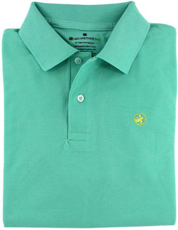 Men's Polo Shirts - Bellwether360 Polo In Sullivan's Sea Glass By Loggerhead Apparel - FINAL SALE