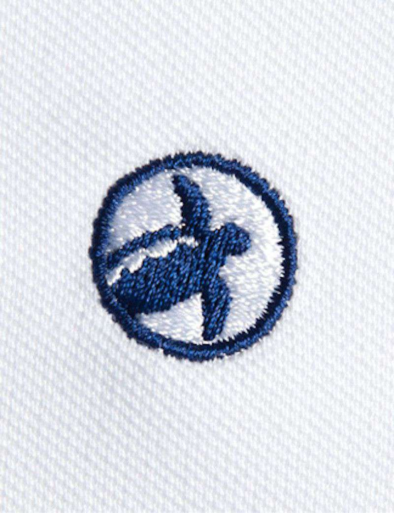 Men's Polo Shirts - Bellwether360 Polo In White By Loggerhead Apparel - FINAL SALE