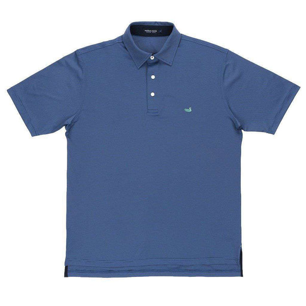 Men's Polo Shirts - Bermuda Tucker Golf Polo In Navy And Blue By Southern Marsh