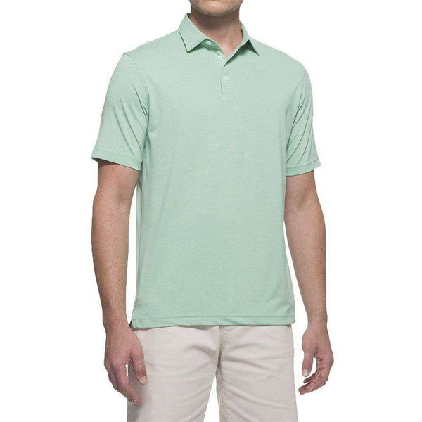 Men's Polo Shirts - Birdie Prep-Formance Polo In Greenie By Johnnie-O