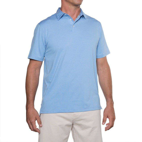 Men's Polo Shirts - Birdie Prep-Formance Polo In Regatta By Johnnie-O