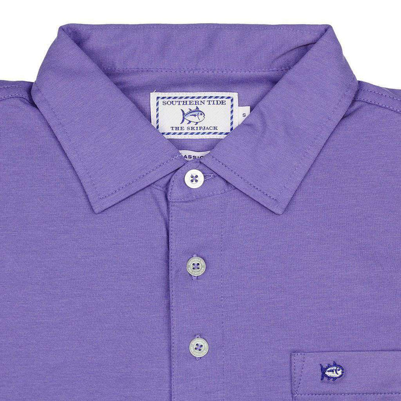 Men's Polo Shirts - Channel Marker Polo In Baja Blue By Southern Tide