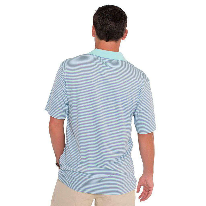 Charleston Stripe Performance Polo in Barnacle by The Southern Shirt Co.
