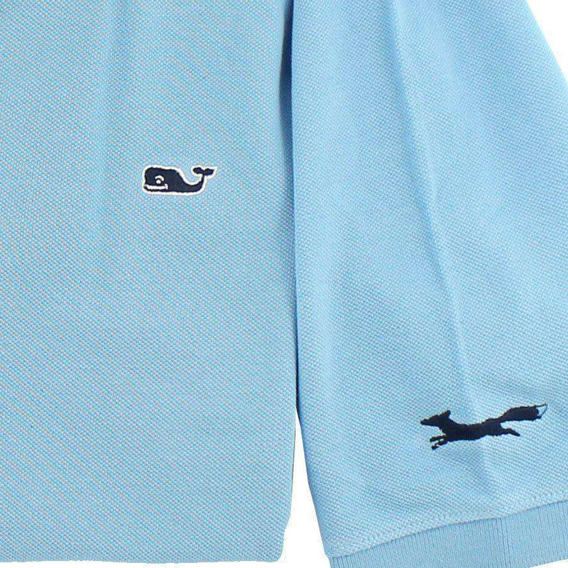 Men's Polo Shirts - Classic Polo In Boathouse Blue By Vineyard Vines, Featuring Longshanks The Fox