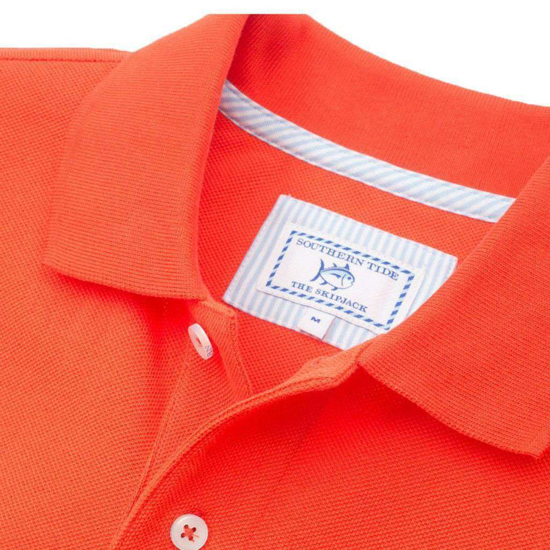 Clemson Gameday Skipjack Polo in Endzone Orange by Southern Tide