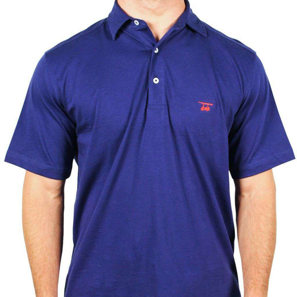 Men's Polo Shirts - East Beach Polo In Navy By Bald Head Blues