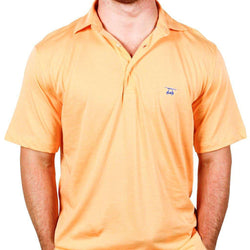Men's Polo Shirts - East Beach Polo In Orange By Bald Head Blues