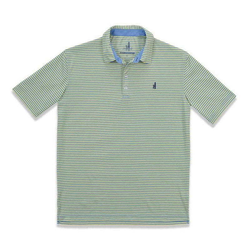 "Fringe ""Prep-formance"" Polo in Mellow Yellow by Johnnie-O - FINAL SALE"