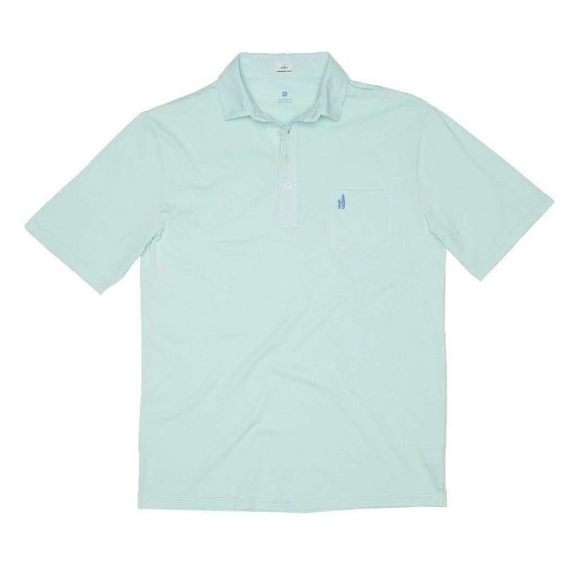Men's Polo Shirts - Garment Dyed Original 4-Button Polo In Fern By Johnnie-O