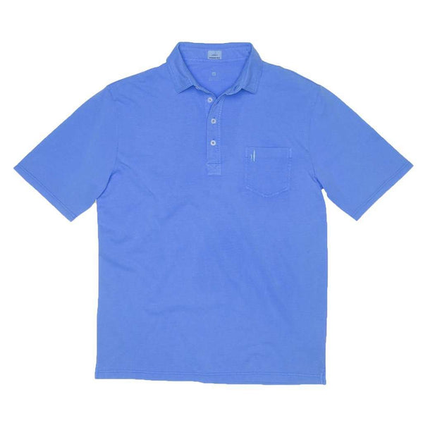 Men's Polo Shirts - Garment Dyed Original 4-Button Polo In Neon Blue By Johnnie-O