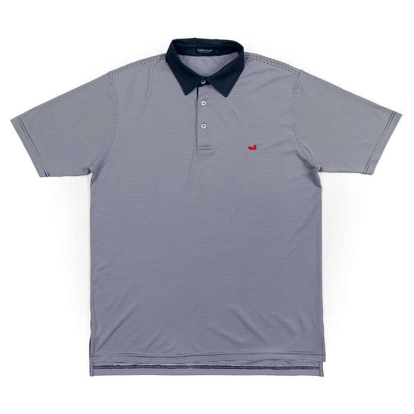 Men's Polo Shirts - Hawthorne Performance Polo In Navy & White By Southern Marsh