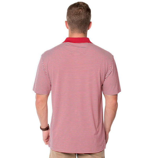 Heritage Performance Polo in University Red by The Southern Shirt Co. - FINAL SALE