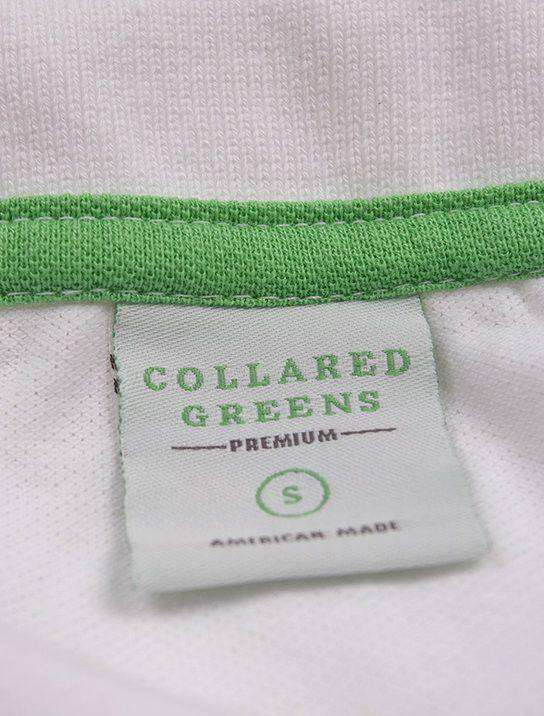 Men's Polo Shirts - Home Grown Polo In Club White By Collared Greens - FINAL SALE