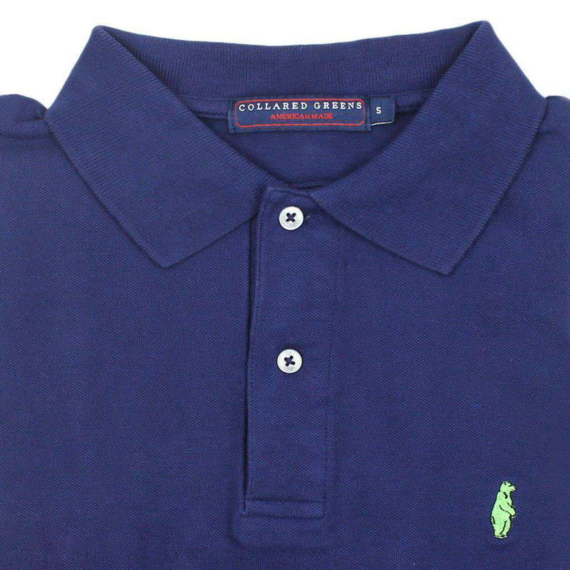 Home Grown Polo in Navy by Collared Greens - FINAL SALE