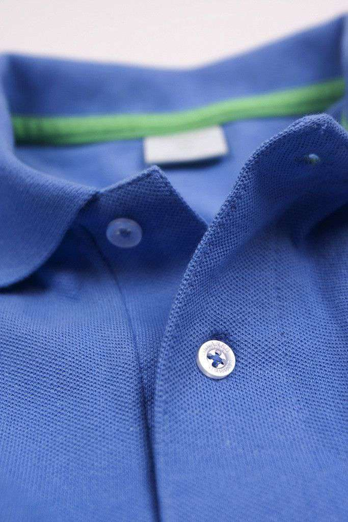 Men's Polo Shirts - Home Grown Polo In Ocean Blue By Collared Greens - FINAL SALE