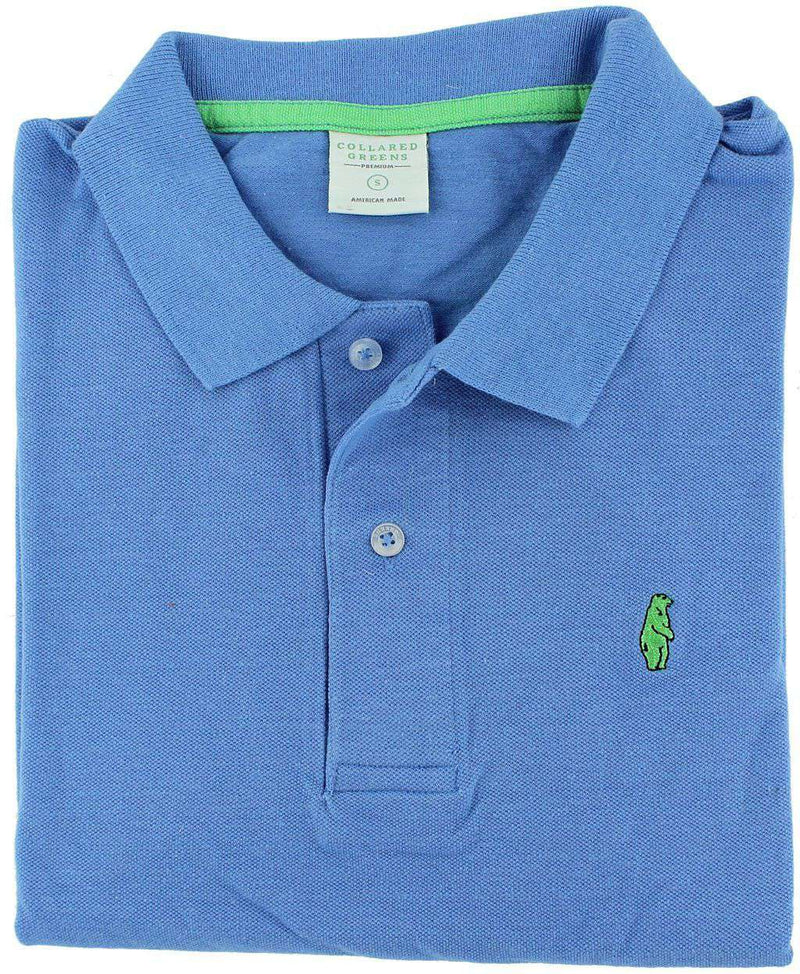 Home Grown Polo in Ocean Blue by Collared Greens - FINAL SALE