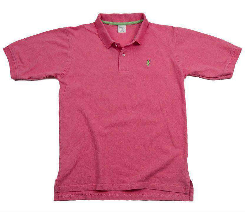 Men's Polo Shirts - Home Grown Polo In Salmon Pink By Collared Greens - FINAL SALE