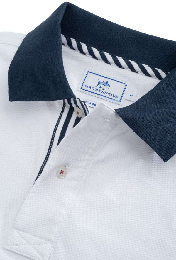 Independence Day Solid Polo in Classic White by Southern Tide
