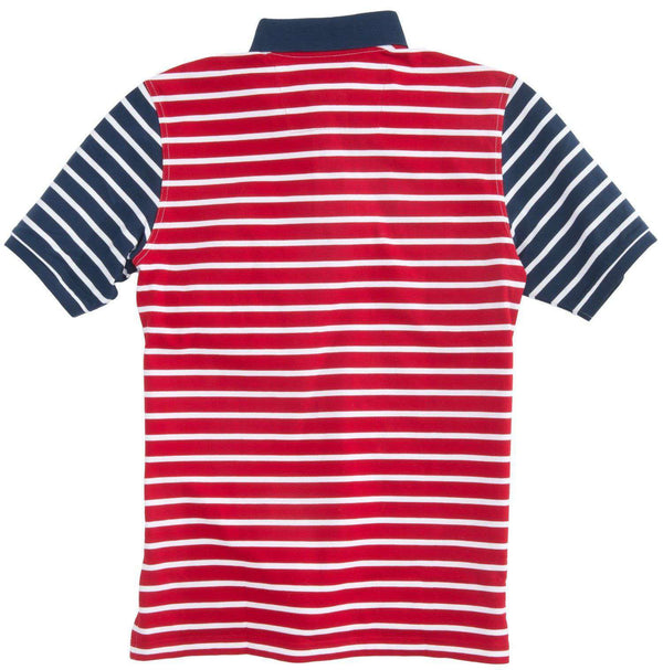 Independence Day Striped Polo in Red, White and Blue by Southern Tide