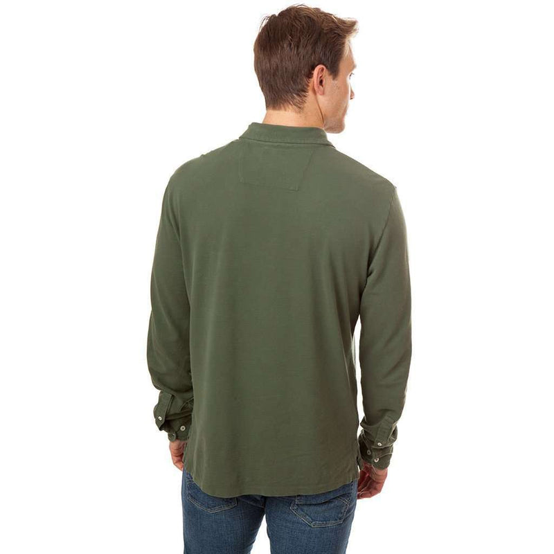 Long Sleeve Beachside Polo in Dark Sage by Southern Tide - FINAL SALE