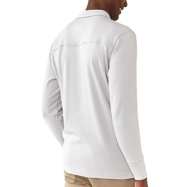 Long Sleeve Puremeso Polo in Ash by The Normal Brand - FINAL SALE