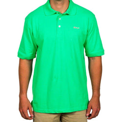 Men's Polo Shirts - Longshanks Embroidered Patch Polo In Green By Country Club Prep