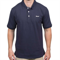 Men's Polo Shirts - Longshanks Embroidered Patch Polo In Navy By Country Club Prep