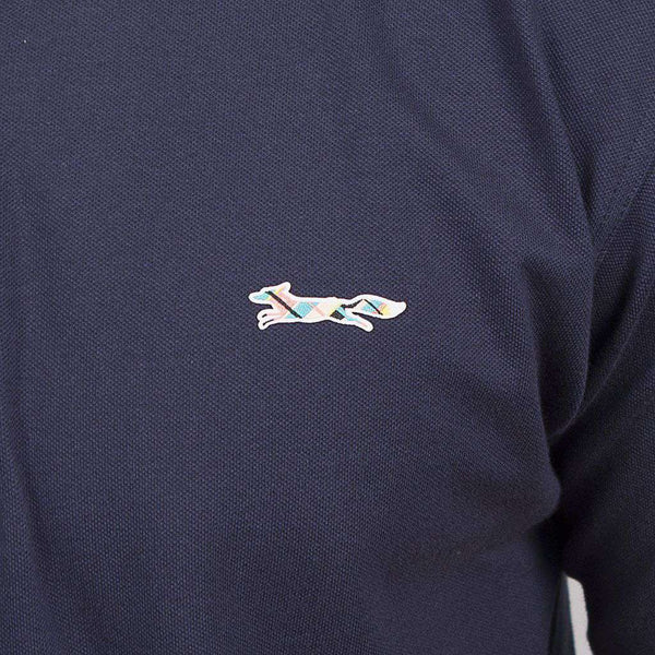 Longshanks Embroidered Patch Polo in Navy by Country Club Prep