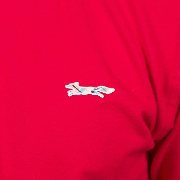 Longshanks Embroidered Patch Polo in Red by Country Club Prep
