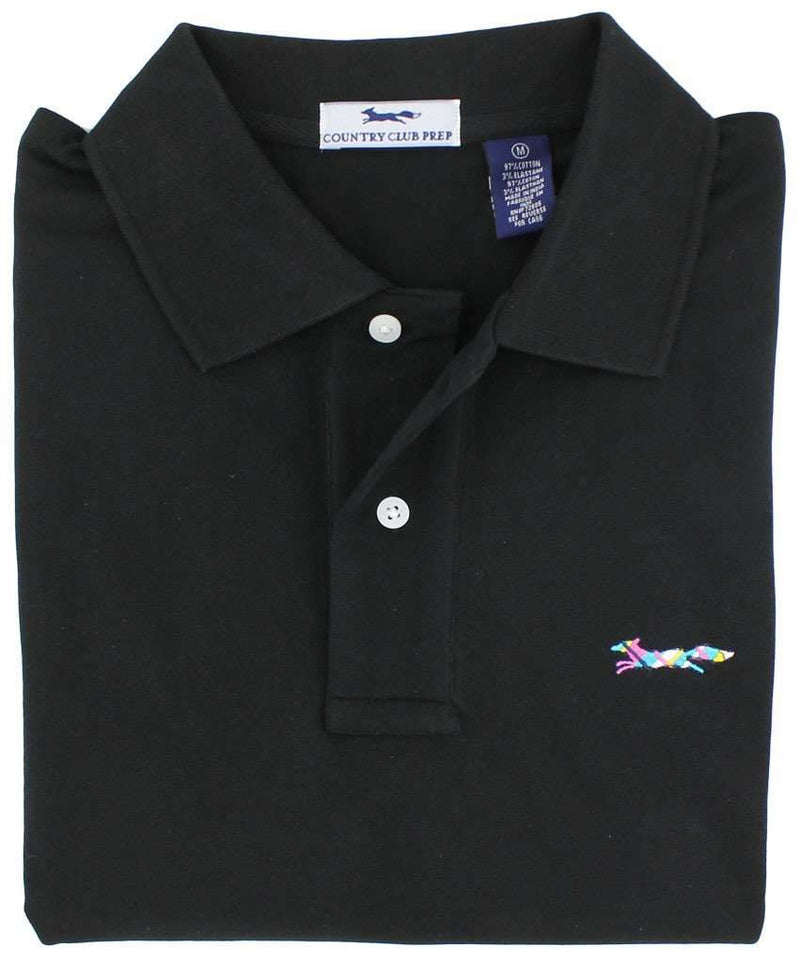 Longshanks Polo Shirt in Black by Country Club Prep - FINAL SALE