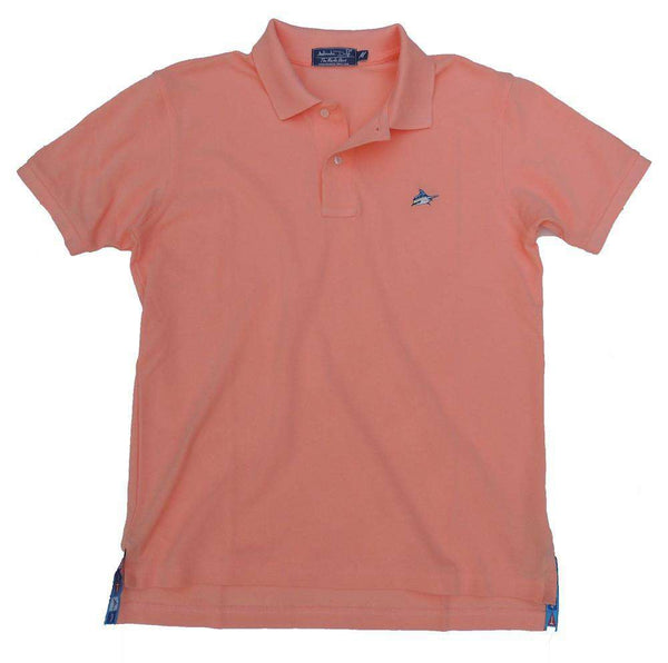 Men's Polo Shirts - Marlin Polo In Coral Reef Light Orange By Atlantic Drift - FINAL SALE