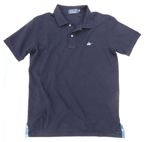 Men's Polo Shirts - Marlin Polo In Navy By Atlantic Drift - FINAL SALE