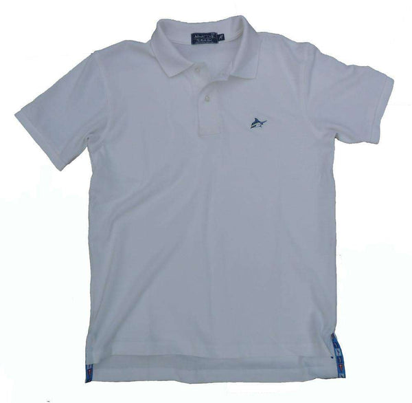 Men's Polo Shirts - Marlin Polo In Whitecap White By Atlantic Drift - FINAL SALE