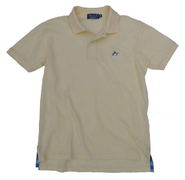 Men's Polo Shirts - Marlin Polo In Yellowtail Yellow By Atlantic Drift - FINAL SALE
