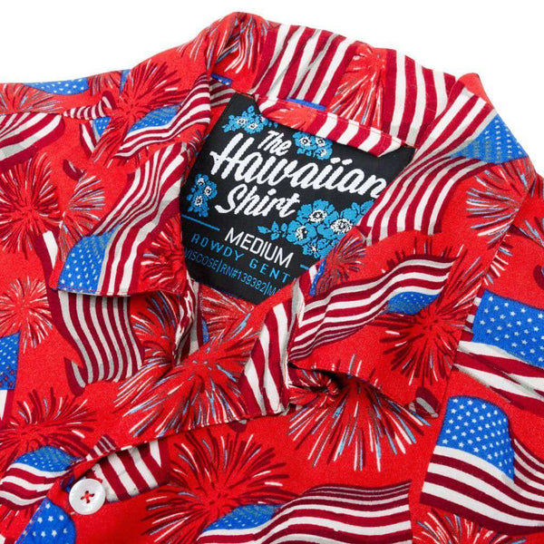 National Anthem Hawaiian Shirt by Rowdy Gentleman - FINAL SALE